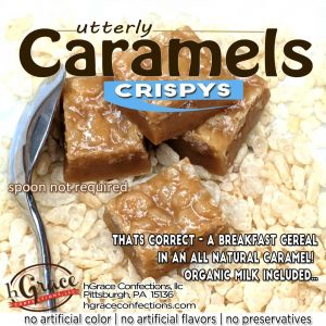 CRISPYS caramels are as amazing as you think they would be in Caramel, delicious!