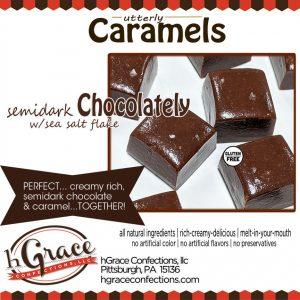 semidark Chocolately Caramels.