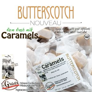 Creamy rich Butterscotch with sea salt flake that you will easily fall in love with!