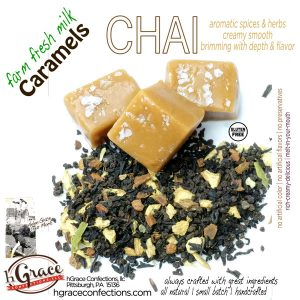 CHAI Caramels steeped in farm fresh milk with that wonderful taste of CHAI, with a slight pinch of s