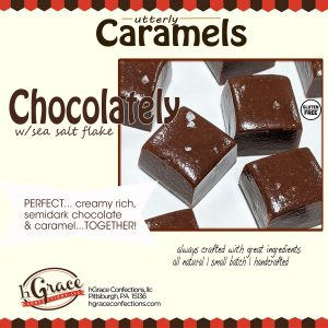 semidark Chocolately Caramels.