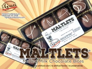 our Signature Milk Chocolate MALTLETS is a malted milk chocolate confection.